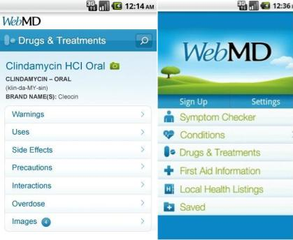 WebMD Android health apps
