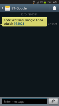SMS google inactive account