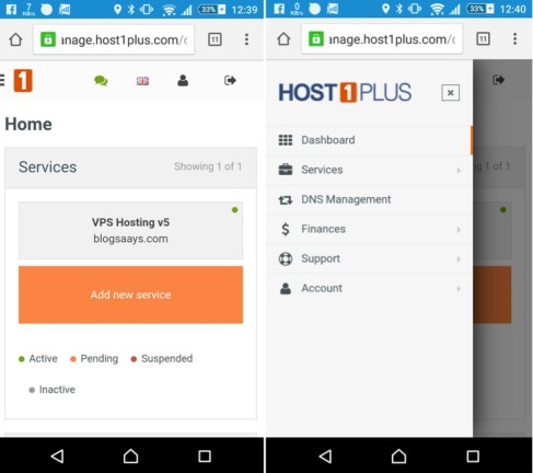 Host1Plus Mobile Discount VPS