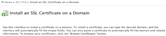 install ssl certificate website