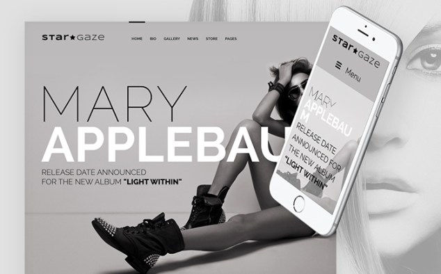 StarGaze Celebrity Responsive WordPress Template