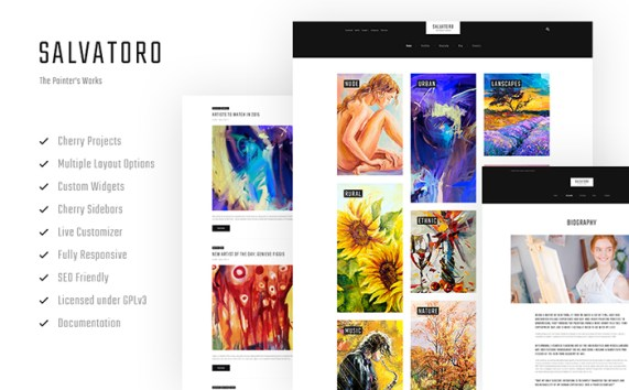 Salvatoro WordPress Theme