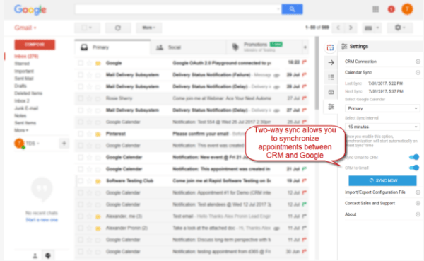 GMAIL CRM INTEGRATION