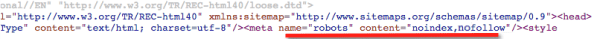 fix google index coverage issues - meta noindex tag