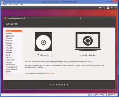 Ubuntu windows installation