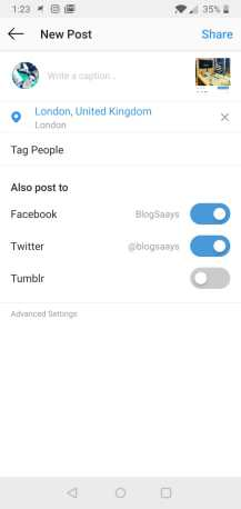 Sell on Instagram strategies-social share option