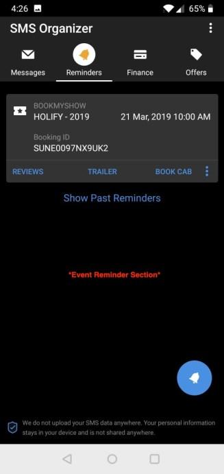 Event Reminder SMS Organiser