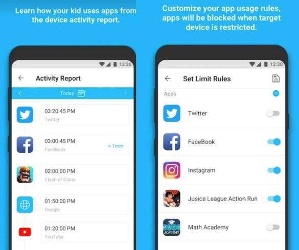 App blocking app reporting Famisafe Parent controlling app
