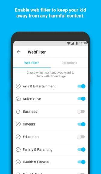 Webfilter parenting app famisafe app