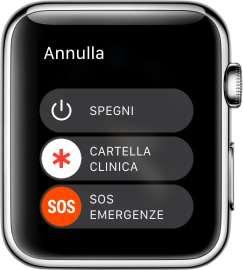 SOS dalla Schermo di Spegnimento dell'Apple Watch