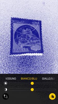 Filtro Lente d'ingrandimento Bianco:Blu