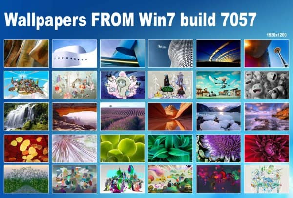Windows 7 Build 7057 Wallpapers for XP and Vista