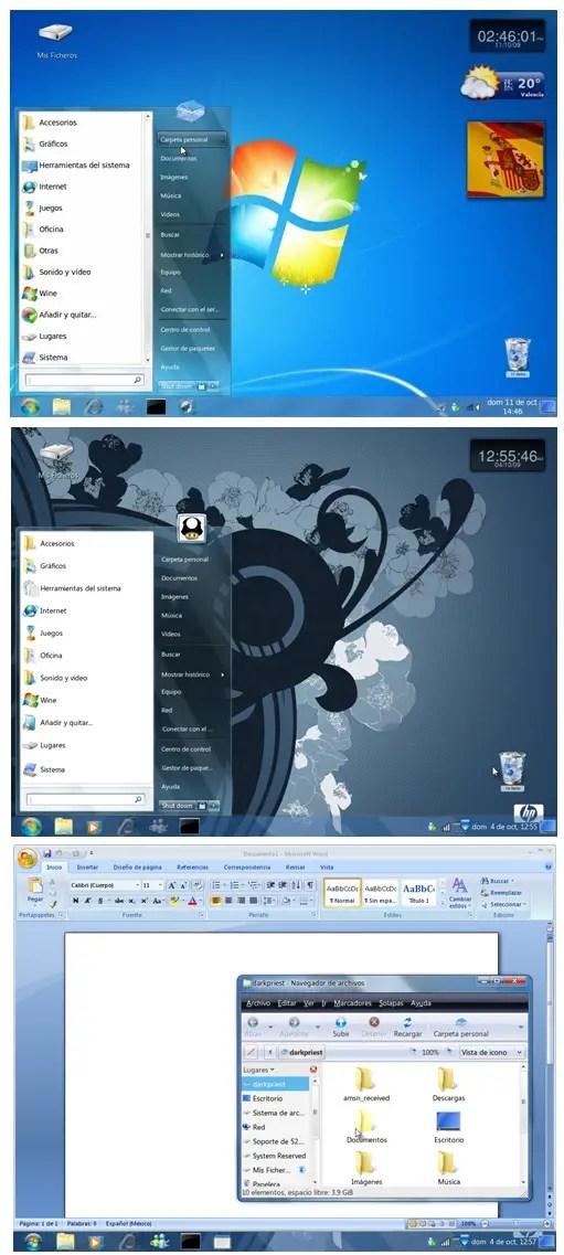 Transform Ubuntu to Windows 7