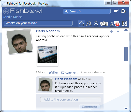 Fishbowl Facebook Desktop Client