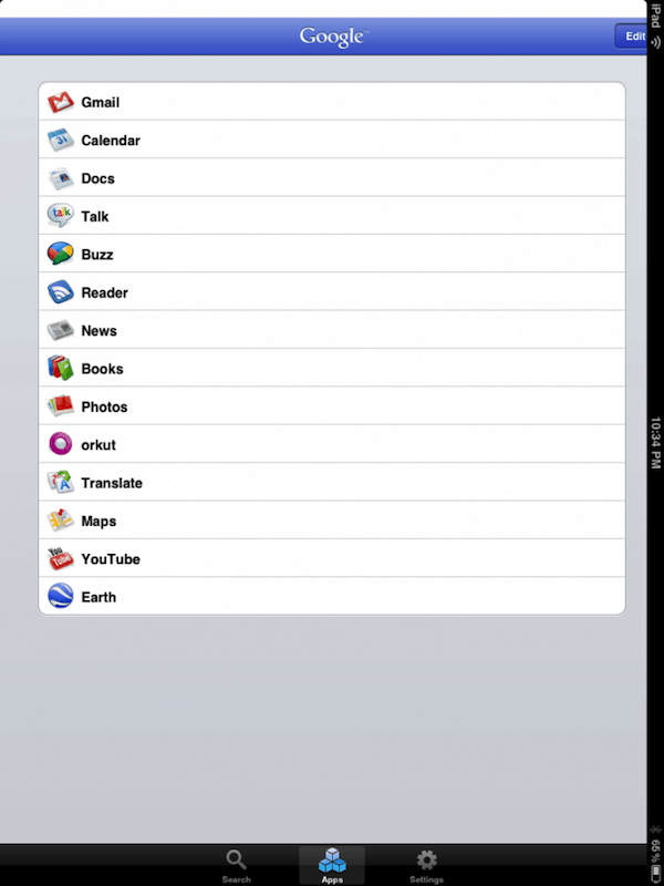 Google Mobile App for iPad1