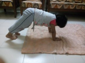 Little Kid Doing Yoga