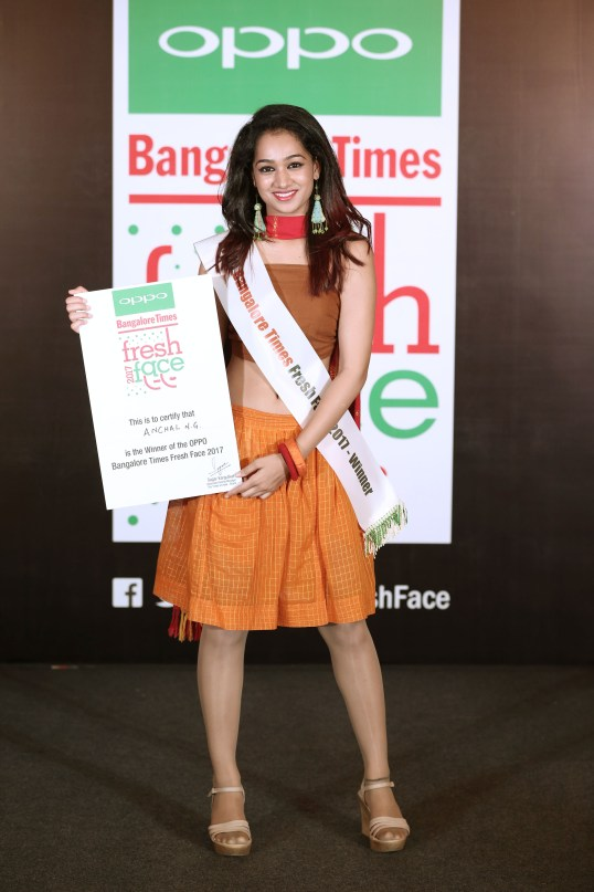 Oppo Times Fresh Face Winner