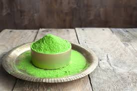 green organic powder