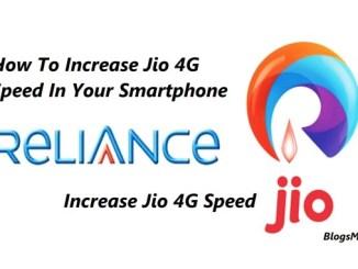 Increase Jio 4G Speed