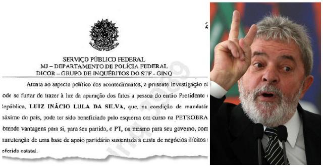 Trecho do documento em que o delegado Josélio Sousa pede ao Supremo para ouvir Lula