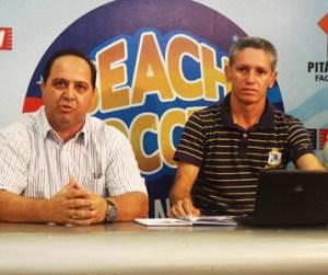 Presidente da CBBS, Marcos Spironelli e Eurico Pacífico, presidente da FMBS