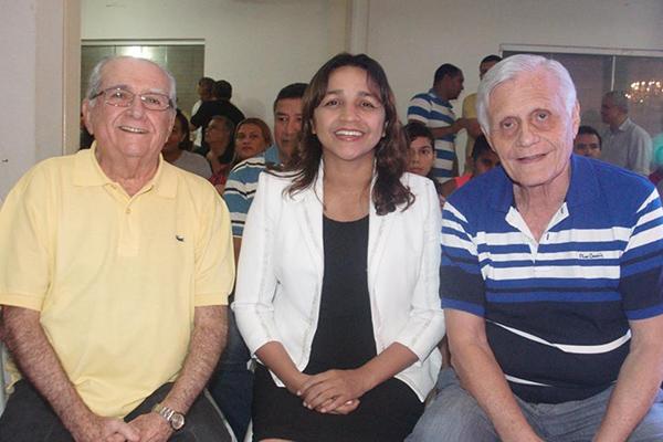 Deputado João Castelo com Eliziane Gama e o vereador José Joaquim