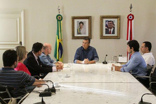 Governador Flávio Dino se reúne com representantes da Infraero após pane em aeroporto