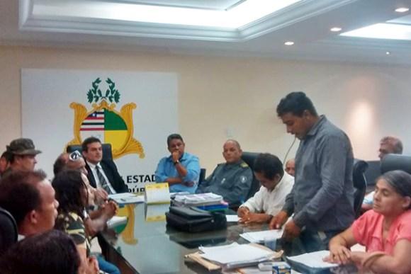 Vereador Honorato Fernandes acompanhou visita de moradores do Rio Grande à Secretaria de Segurança