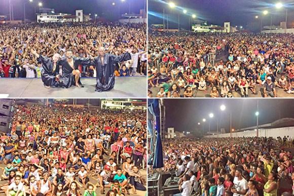 Público estimado de 7 mil torcedores acompanhou a Caravana Pão com Ovo em Santa Inês
