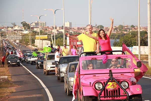 Candidata Eliziane Gama realiza Mega Carreata na área Itaqui-Bacanga