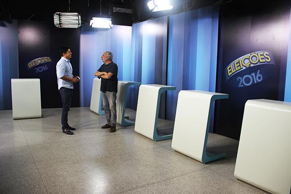 Estúdio da TV Mirante é preparado para o debate com candidatos a prefeito nesta quinta (29)