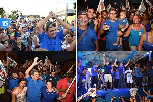 Abraço da Onda Azul do Filuca para Pinheiro na tarde deste sábado