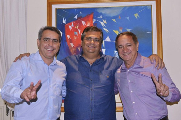Secretário Márcio Jardim, governador Flávio Dino e o prefeito de Arari Djalma Melo