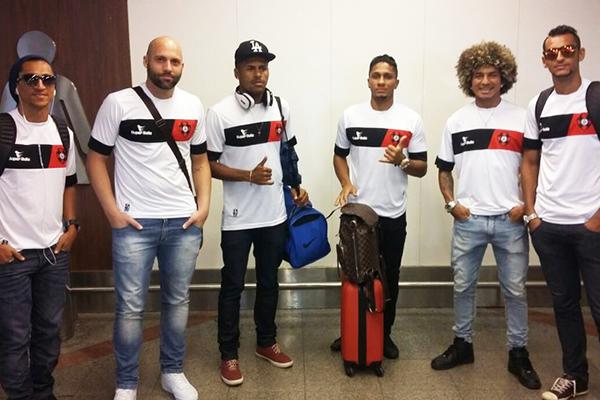 Lenílson, Márcio Arantes, Cris, Miracema, Valderrama e Müller esperam voltar a São Luís com o acesso (Foto: Divulgação / Moto Club)