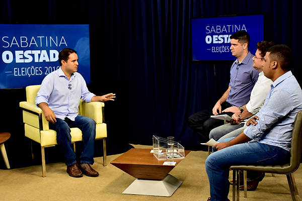 Prefeito Edivaldo Holanda Júnior participa de sabatina do jornal O Estado