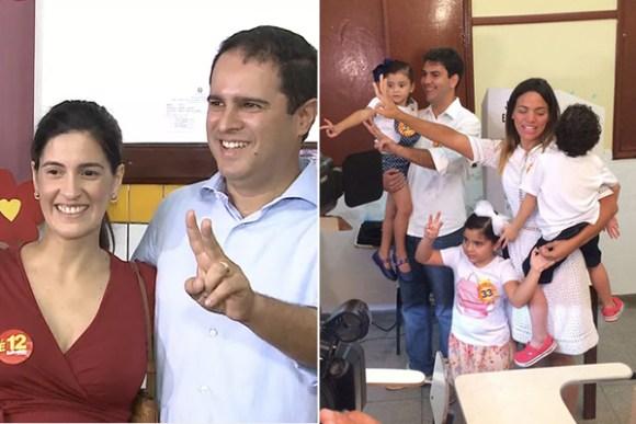 Canditados votam e garantem que a decisão será de Deus e da  população
