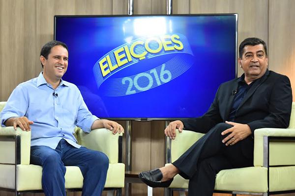 Prefeito Edivaldo Holanda Júnior conversa ao vivo com o repórter Sidney Pereira