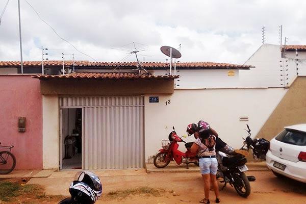 Casa da família de Ananias, no Residencial das Rosas, em São José de Ribamar