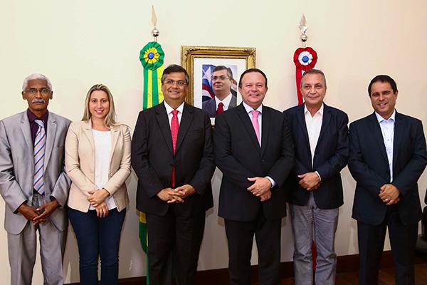 Domingos Dutra, Talita Laci, Flávio DIno, carlos Brandão, Luís Fernando Silva e Edivaldo Holanda Júnior