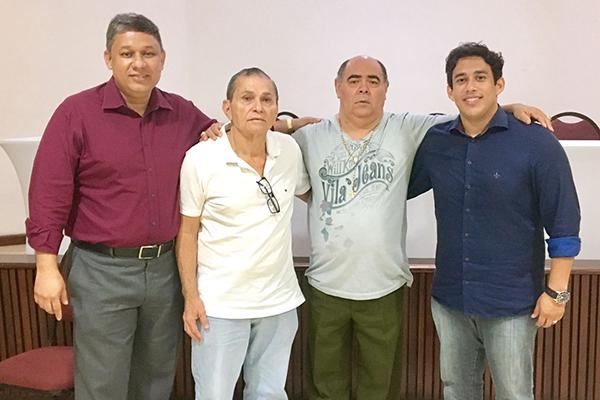 Vereadores Honorato Fernandes, Francisco Carvalho, Astro de Ogum e Osmar FIlho