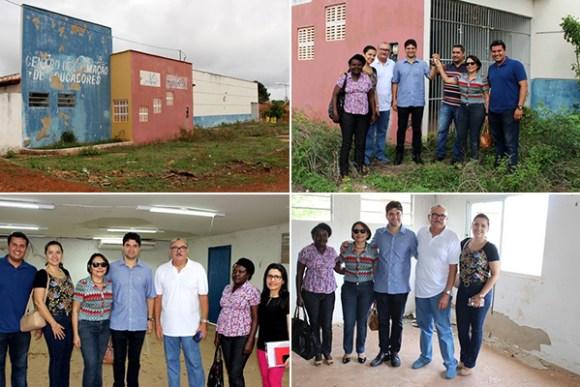 Prefeito Francisco Nagib visita Centro de Formação acompanhado pelo deputado César pires