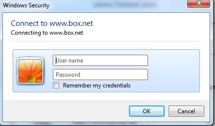 network drive credentials