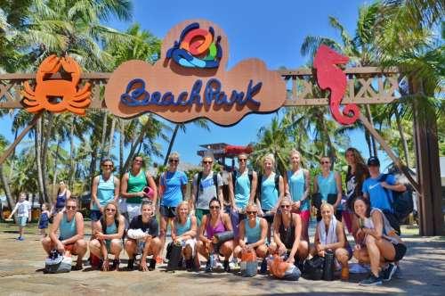 Seleção Australiana de futebol feminino se diverti no Beach Park, em Fortaleza!