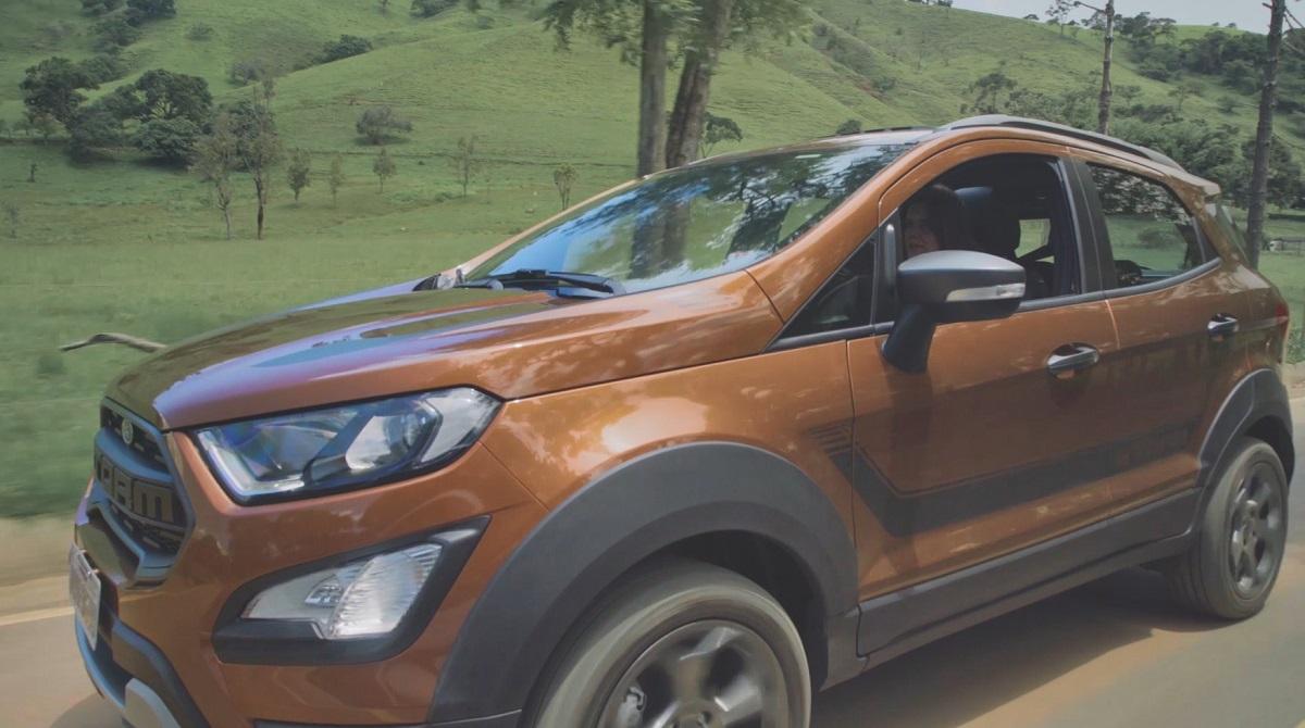 Atleta faz aventura com o novo EcoSport Storm da Ford