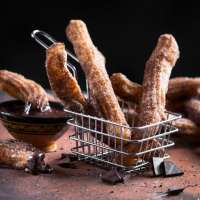 Cinnamon Dusted Churros with Melted Chilli Chocolate