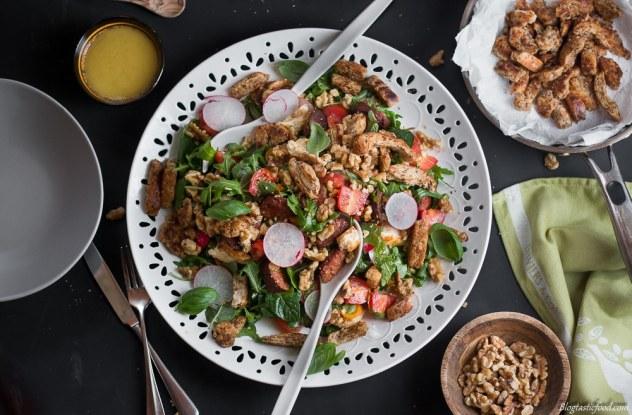 Epic Crouton, Walnut, Halloumi and Crsipy Chorizo Salad marked (4 of 1)