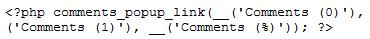 Wordpress Comments Code