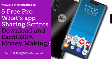 5 Free Pro What's app Sharing Scripts Download and Earn(100% Money Making):