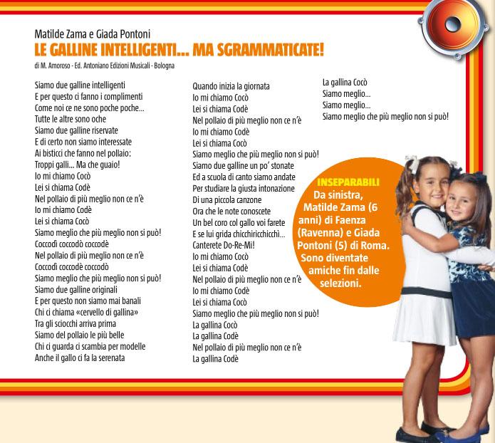 Zecchino Doro 2012 I Video E I Testi Di Tutte Le 12 Canzoni