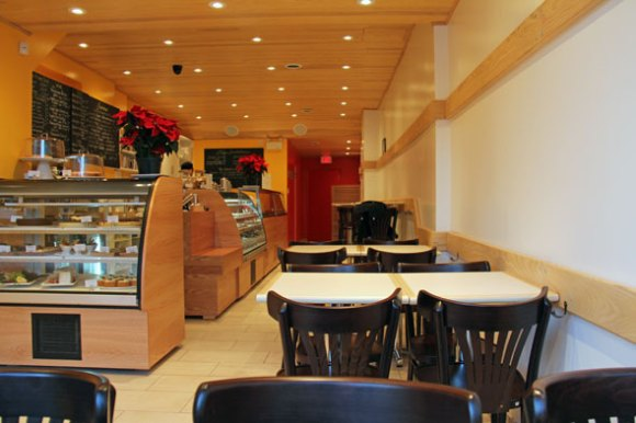 The interior of Karelia Kitchen, which seats 24.